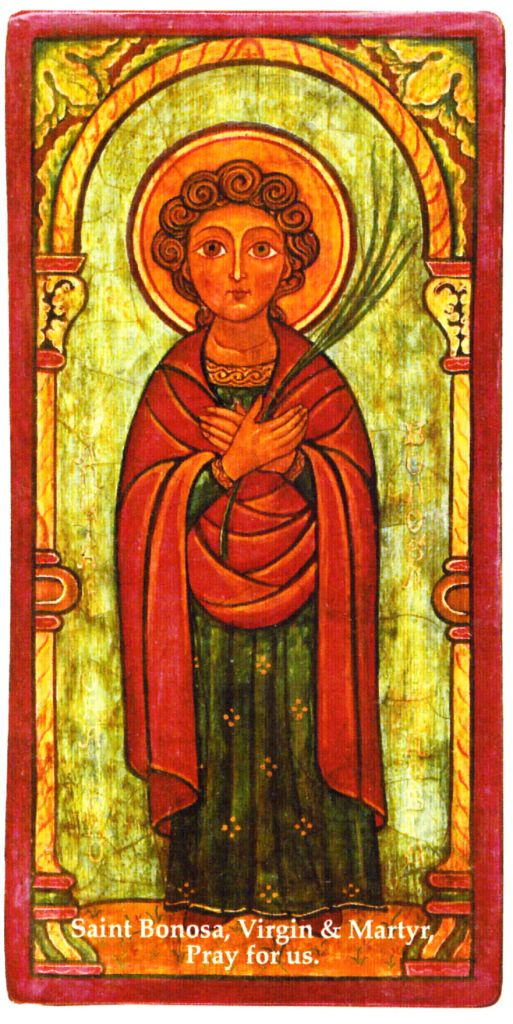 Icon written by a monk of Fontgombault Abbey (France). Used by courtesy of Our Lady of Clear Creek Abbey, Hulbert, Oklahoma.
