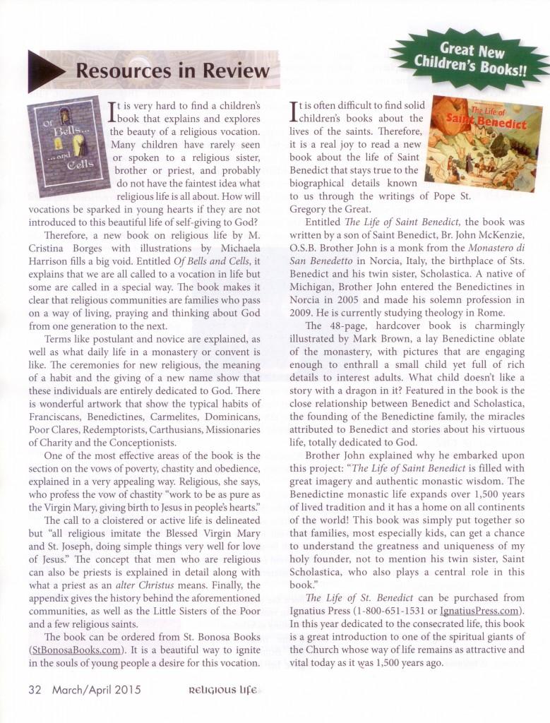 Religious Life Magazine Mar-Apr 2015